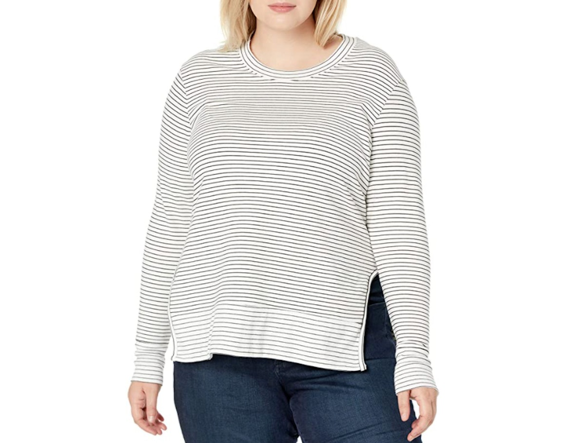 Daily Ritual Terry Cotton and Modal Pullover with Side Cutouts