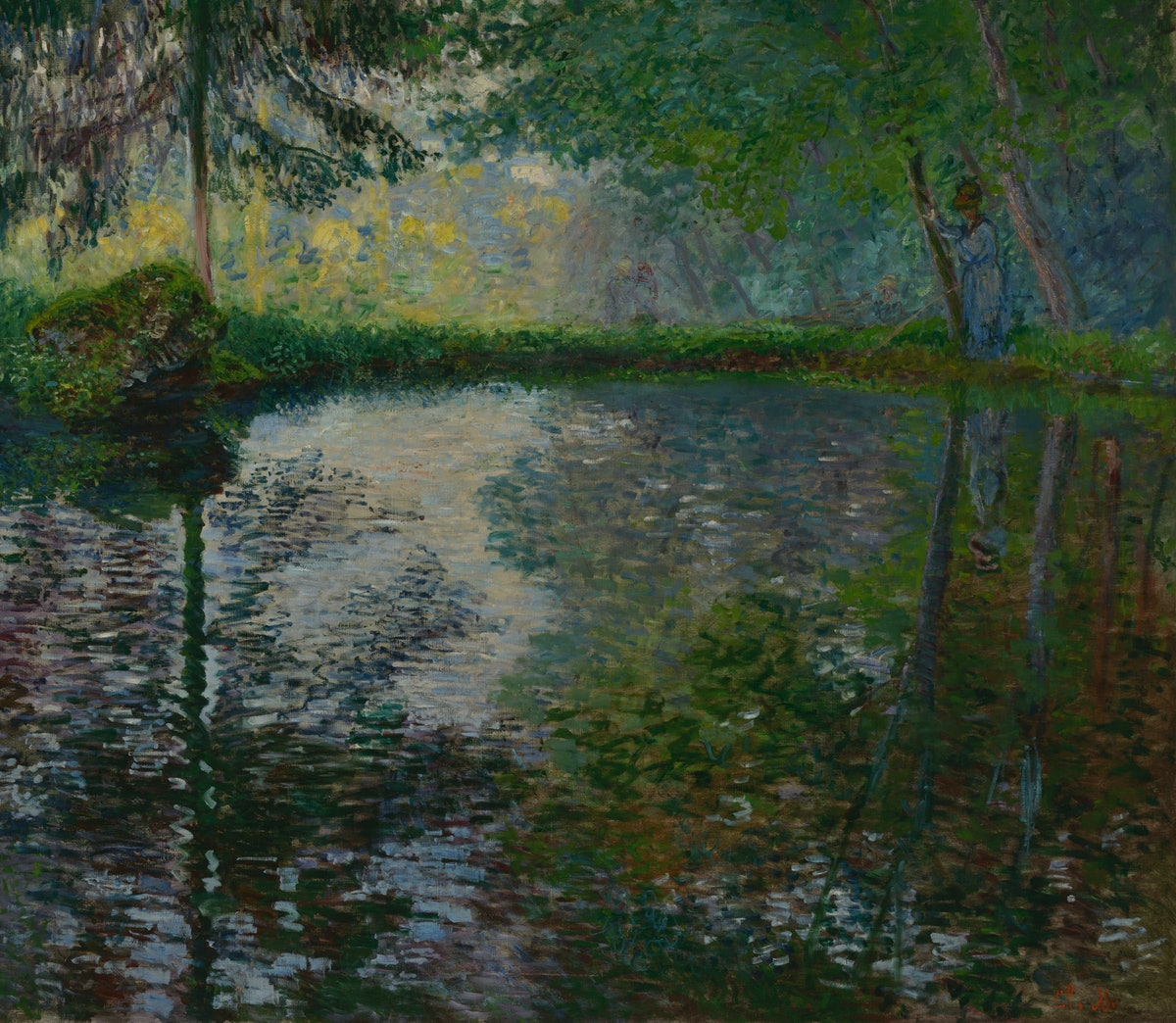 """From the Morozov collection, """"L'Étang à Montgeron,"""" 1876, by Claude Monet. Courtesy of the Hermitage..."""
