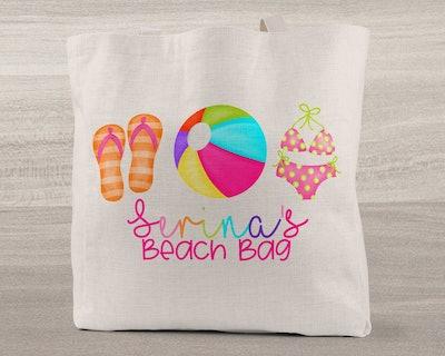Personalized Kids Beach Bag