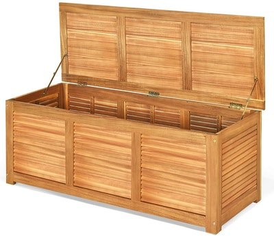 Tangkula Acacia Wood Deck Box