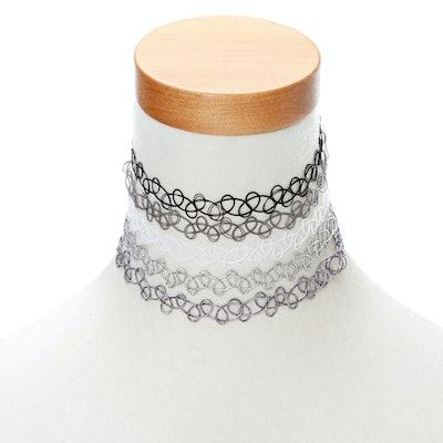 Neutral Tattoo Choker Necklace