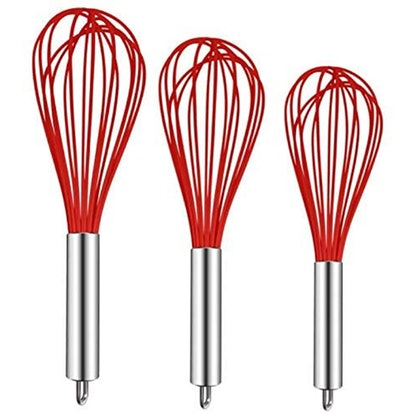 TEEVEA Silicone Balloon Whisk Set (3-Pack)