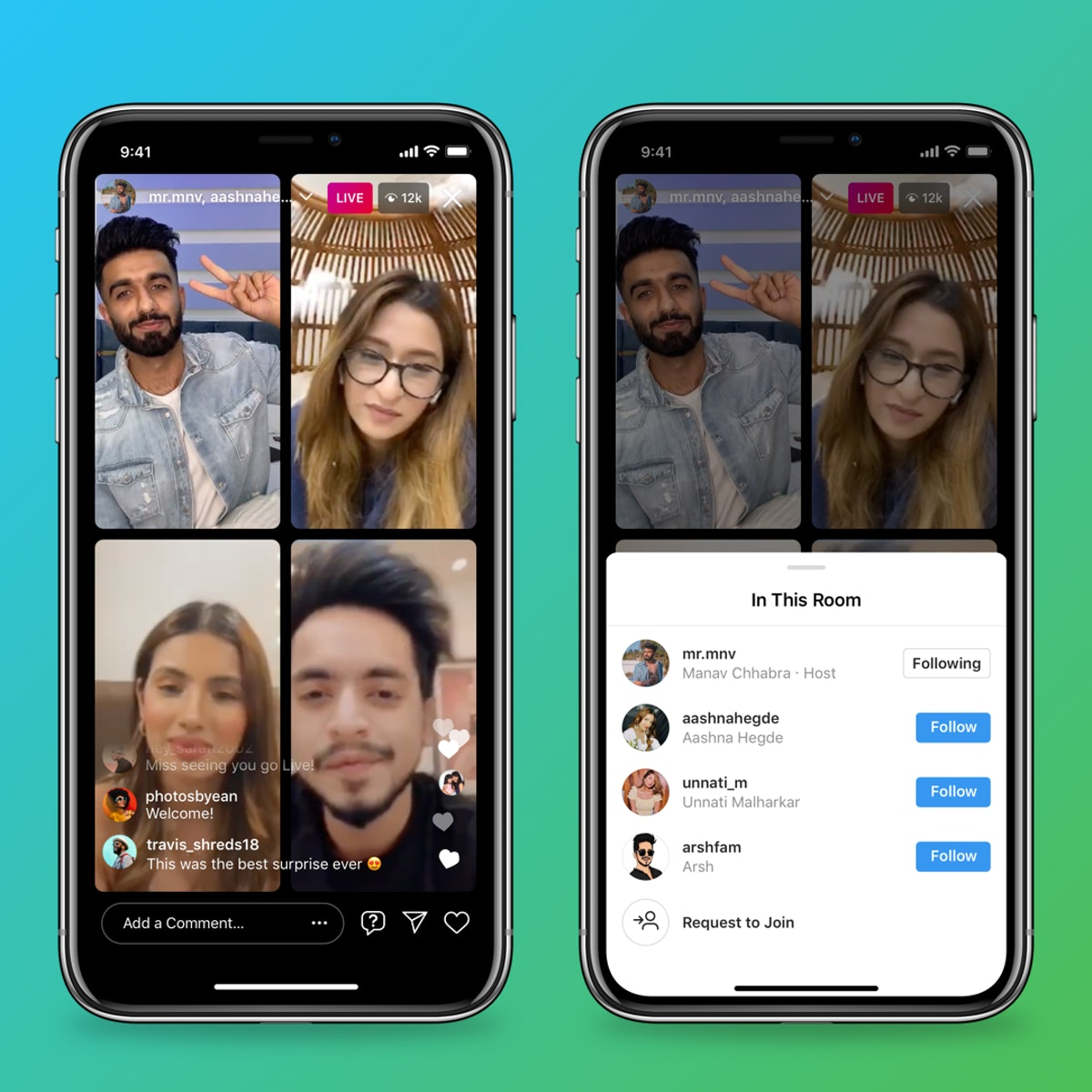 Here's how to use Instagram Live Rooms to stream with up to three other people.