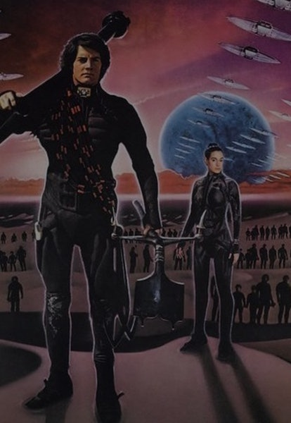 poster with characters from david lynch's dune movie