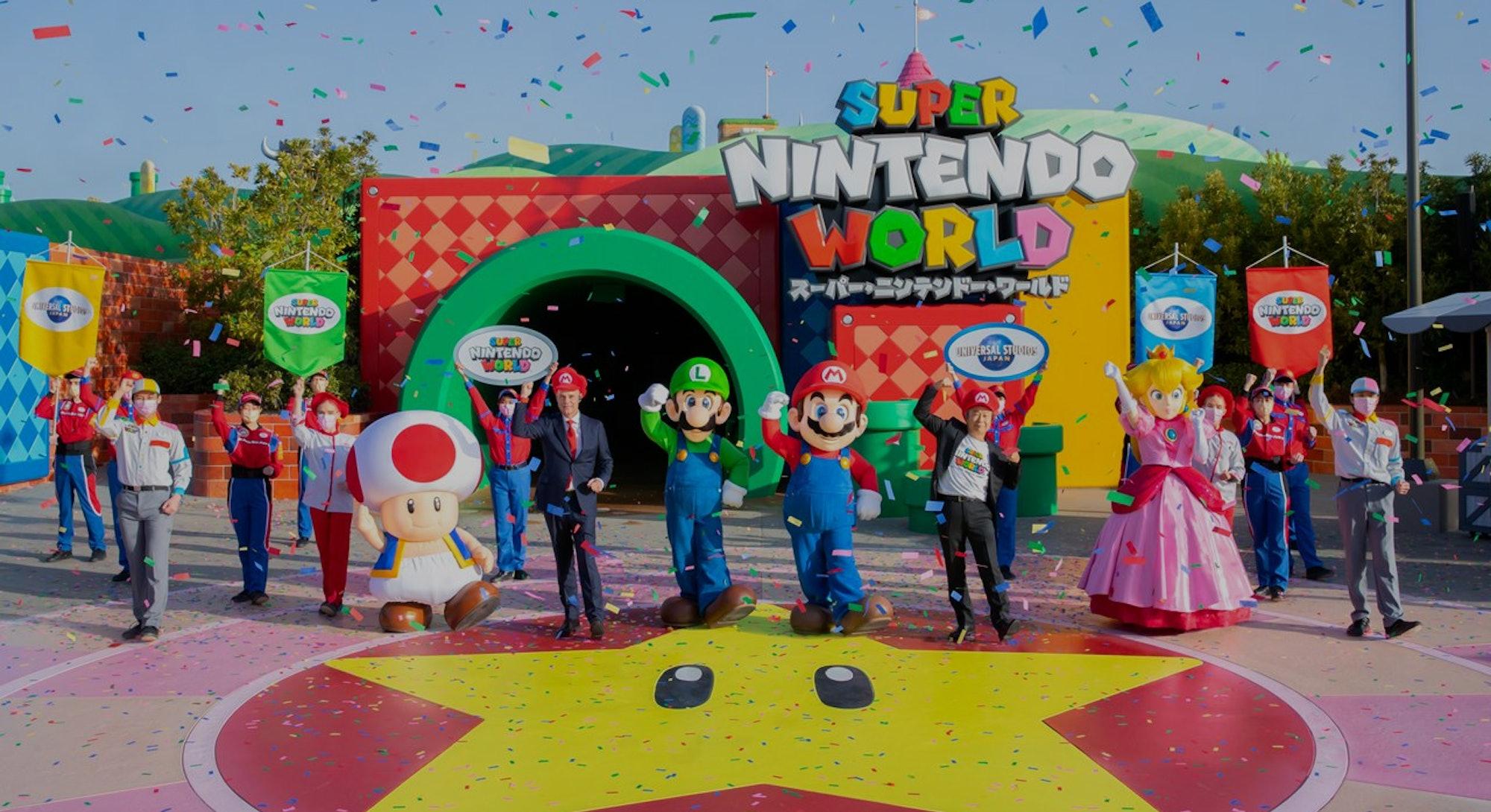 Super Nintendo World grand opening in Osaka Japan. Super Mario. Nintendo.