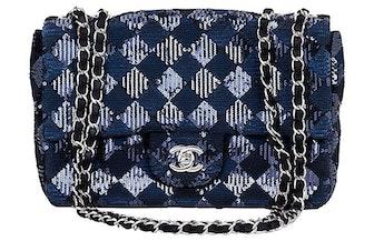 Navy & Black Sequin Evening Bag