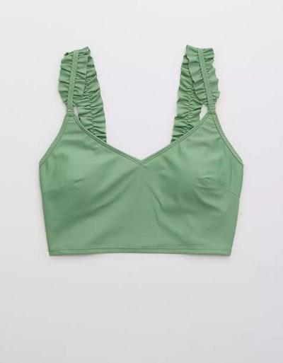 Ruffle Longline Scoop Bikini Top