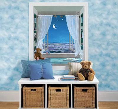 Sweet Dreams Nursery Night Sky Window Wall Accent