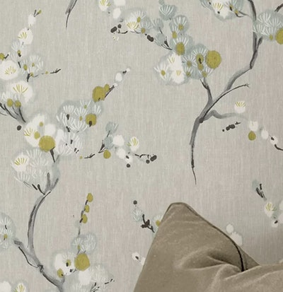 Gray/Blue/White/Yellow Crediton Texture Peel and Stick Wallpaper Roll