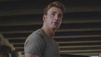 Chris Evans as Steve Rogers in Marvel's Captain America: Civil War