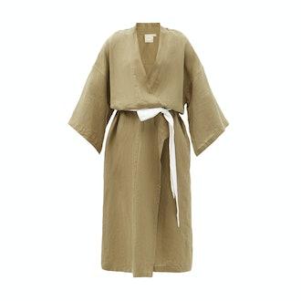 Deiji Studios 02 Belted Linen Robe