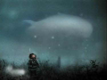 Final game art of a boy and a spirit.