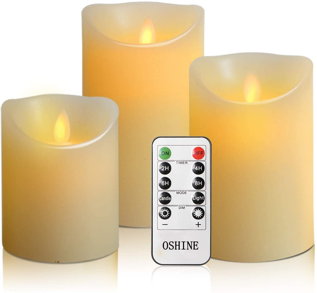 OSHINE Flameless Candles with Remote (Set of 3)