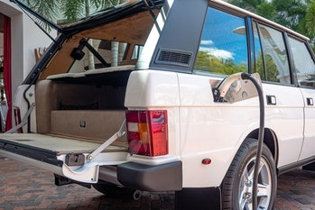 ECD Automotive created the first electric Range Rover Classic using a Tesla motor system.