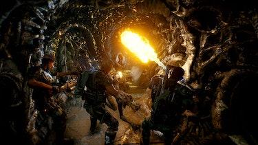 aliens fireteam fire flamethrower bugs squad