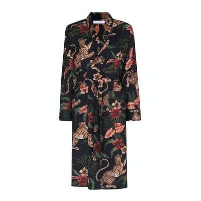 Desmond & Dempsey Soleia Leopard-Print Robe