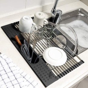 Koroda Roll Up Dish Drying Rack Over The Sink