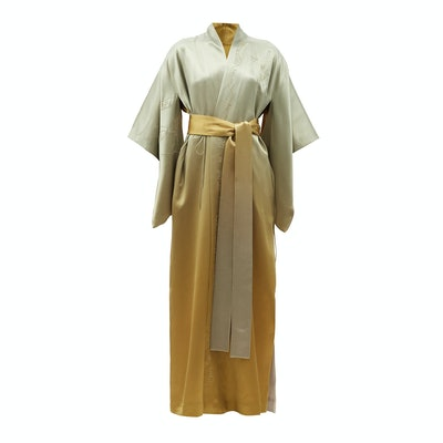 Common Hours Bees and Honey Reversible Ombre-Silk Robe