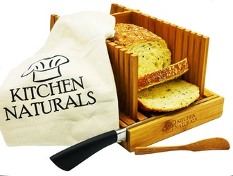 KITCHEN NATURALS Bamboo Foldable Bread Slicer