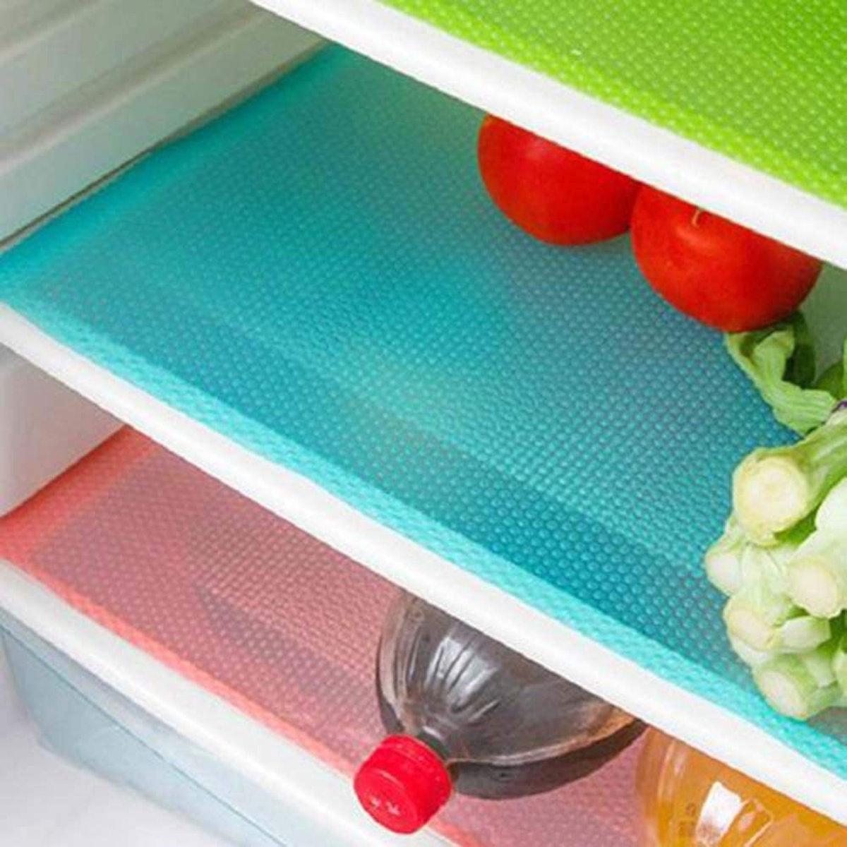 OJYUDD Refrigerator Shelf Liners (6 Pack)
