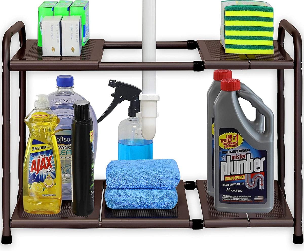 Simple Houseware Under Sink Expandable Shelf