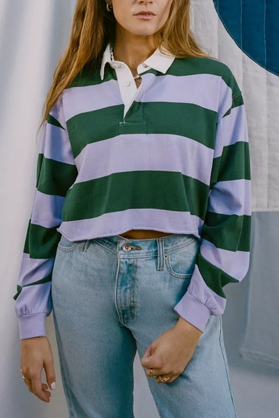 Jefferson Cropped Rugby Shirt