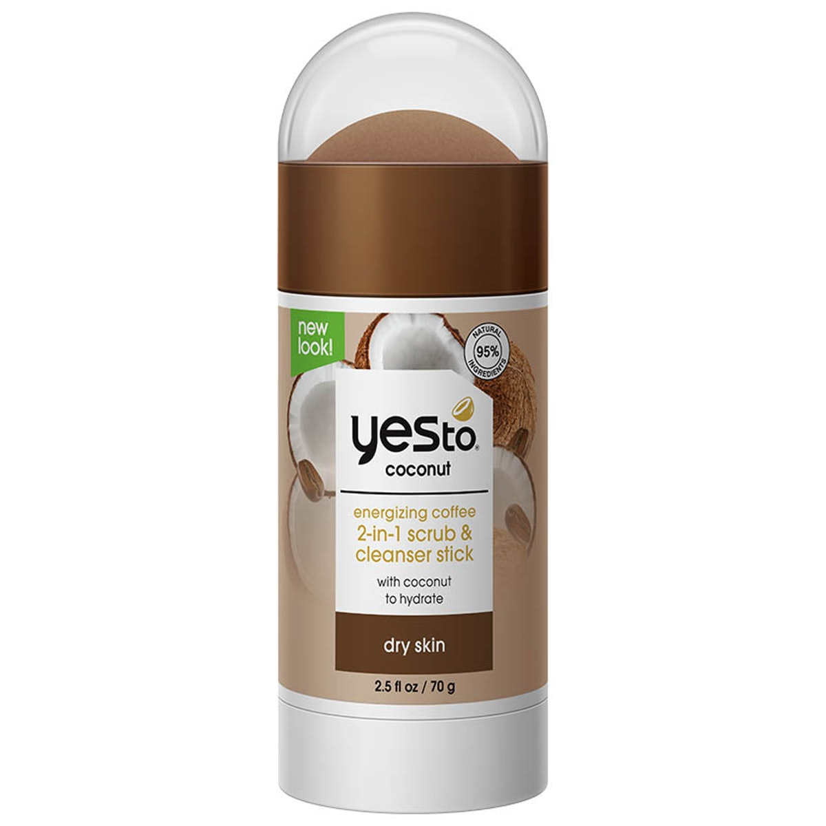 Yes To Energizing Coffee 2-in-1 Scrub & Cleanser Stick