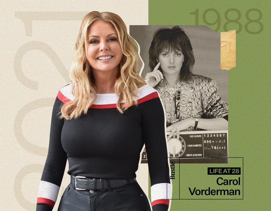 Countdown's Carol Vorderman, aged 28 and now