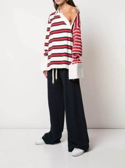 Striped Twisted Rugby Top