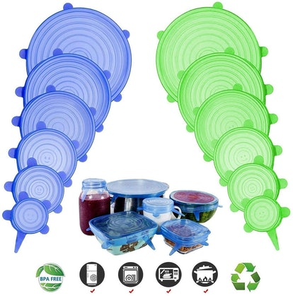 Adpartner Silicone Stretch Lids (Set of 12)