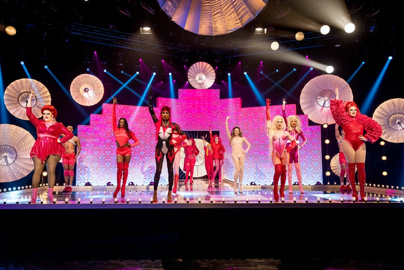 The Series 2 Queens performing on stage in the final