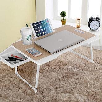 Baodan Foldable Laptop Desk Stand Breakfast Tray