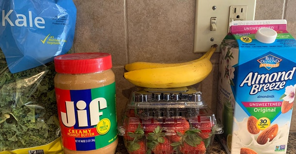 The Hot Girl Smoothie ingredients.