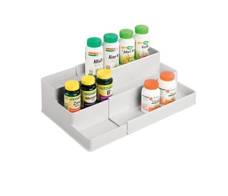 mDesign Adjustable Plastic Vitamin Rack