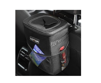 HOTOR Car Trash Can with Lid
