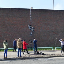 New Banksy on Reading Prison wall