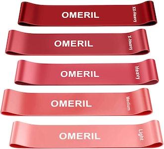 OMERIL Resistance Exercise Bands (Set of 5)