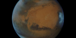 An image of the planet Mars.