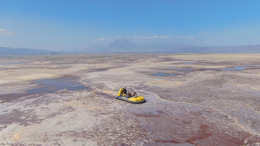Lake Natron filming A Perfect Planet