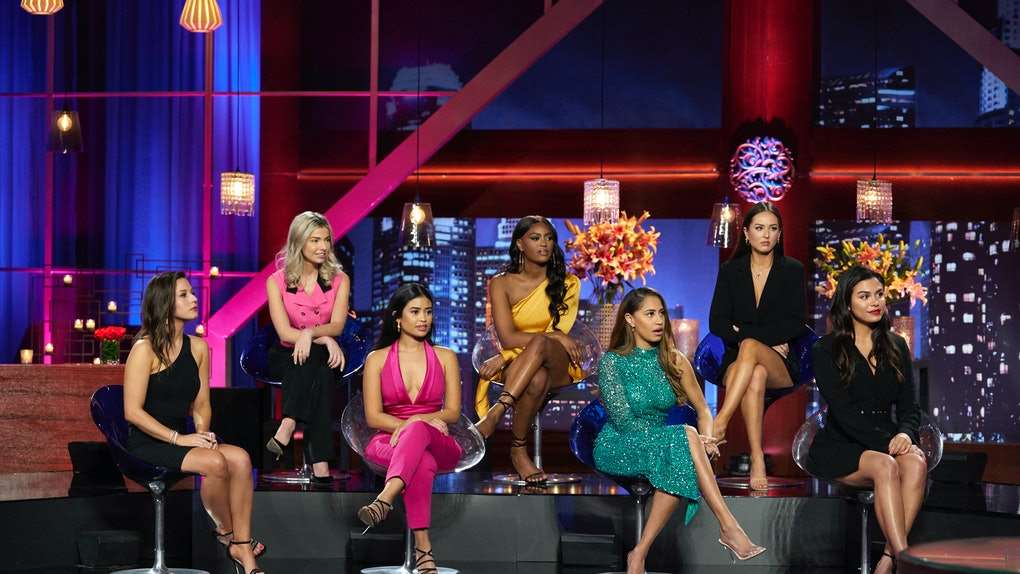"Katie Thurston and fellow 'Bachelor' contestants on the ""Women Tell All"""
