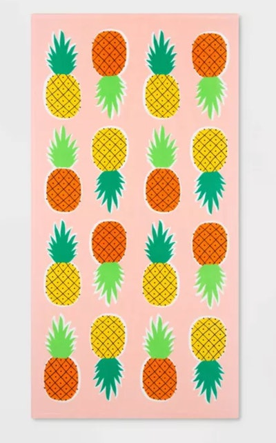 Printed Pineapple Beach Towel