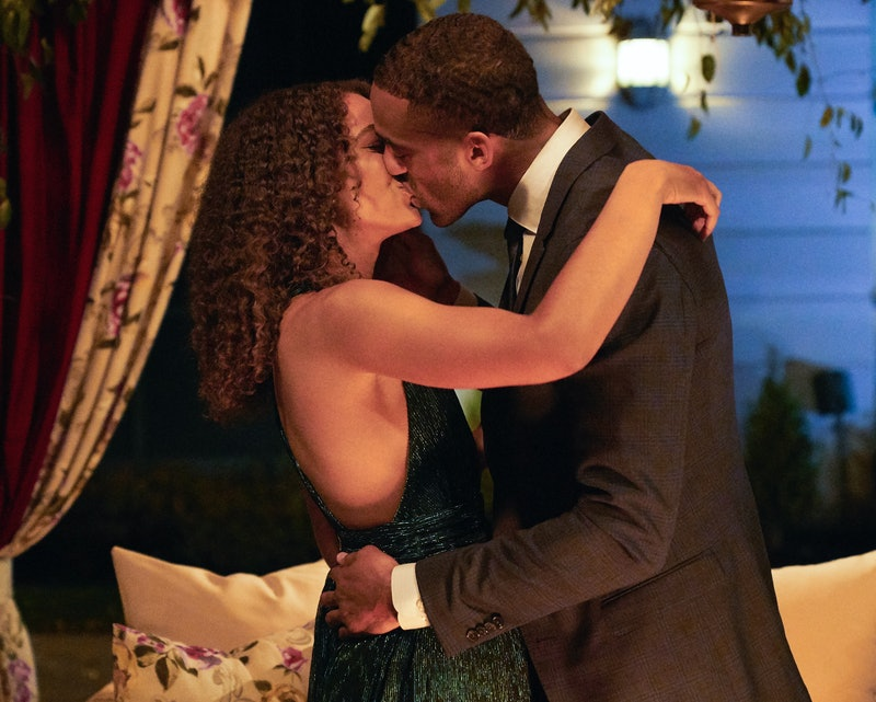 Matt James kissing Pieper  James on 'The Bachelor' via ABC Press Site