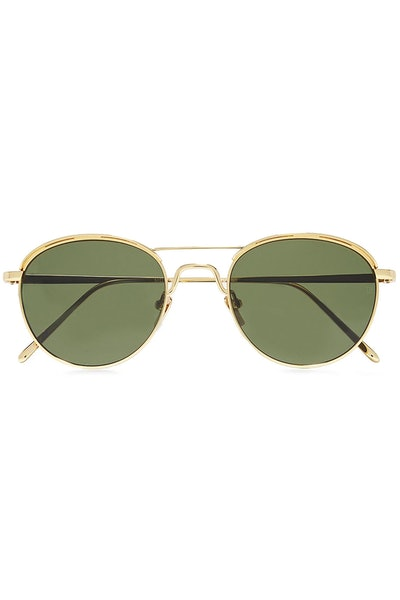 D-frame Gold-Tone Sunglasses