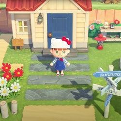 hello kitty in animal crossing new horizons