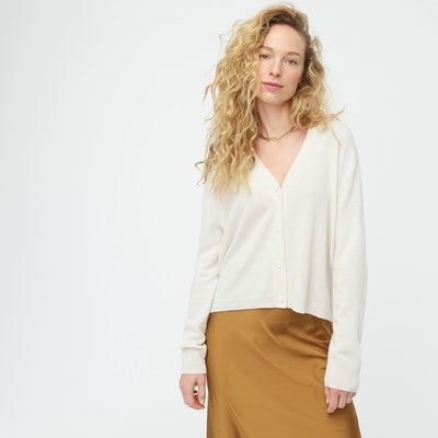 Relaxed-Fit Cashmere Cardigan Sweater