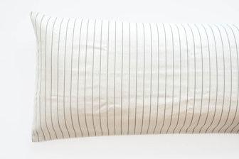 TPE 24 x 60 Natural w Navy Stripe Pillow