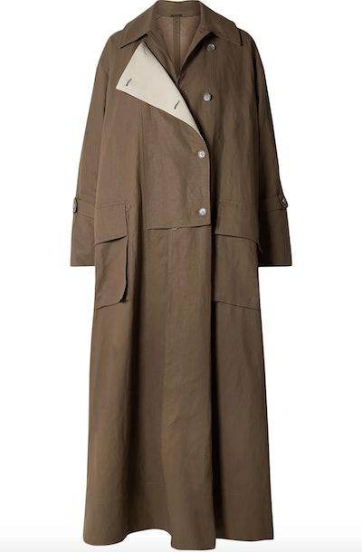 Oriole Oversized Linen Trench Coat