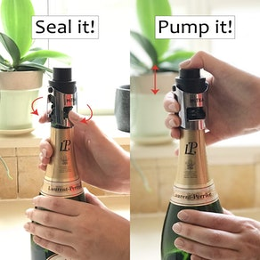 MiTBA Bottle Stopper with Pressure Pump