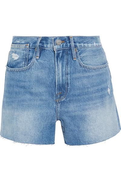 Le Stevie Distressed Denim Shorts