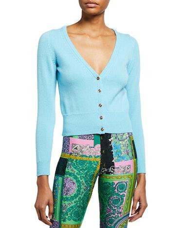 Blue Cashmere Cardigan